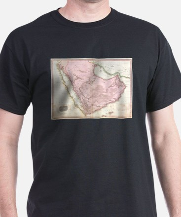 Vintage Map of Saudi Arabia (1818) T-Shirt