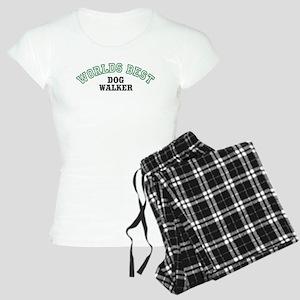Worlds Best Dog Walker Women's Light Pajamas