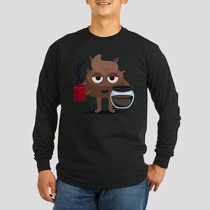 Coffee Long Sleeve Dark T-Shirt