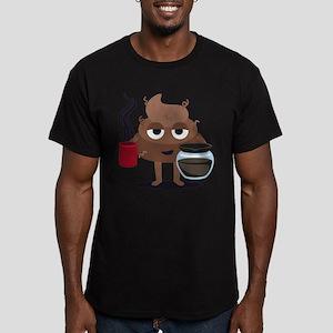 Coffee Men's Fitted T-Shirt (dark)