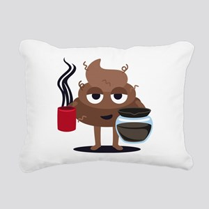 Coffee Rectangular Canvas Pillow
