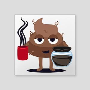 """Coffee Square Sticker 3"""" x 3"""""""