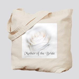Mother Of the Bride White Ros Tote Bag