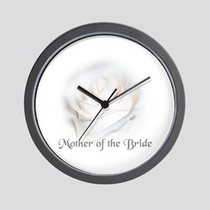 Mother Of the Bride White Ros Wall Clock