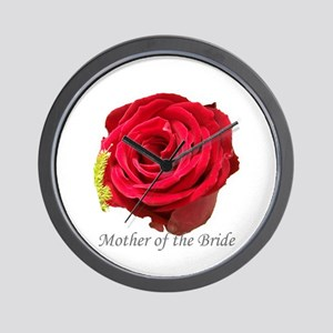 Mother Of the Bride Red Rose Wall Clock