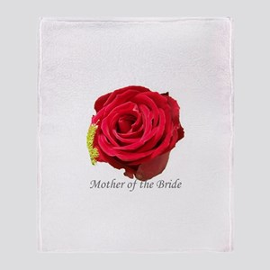 Mother Of the Bride Red Rose Throw Blanket