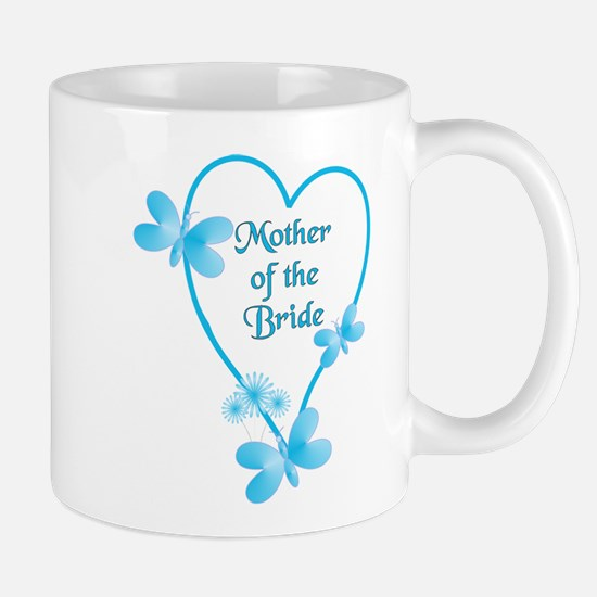 Mother Of The Bride Blue Heart Mugs