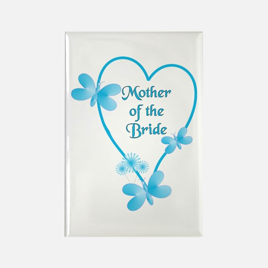 Mother Of The Bride Blue Heart Magnets