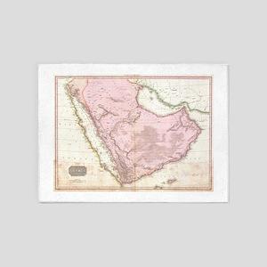 Vintage Map of Saudi Arabia (1818) 5'x7'Area Rug