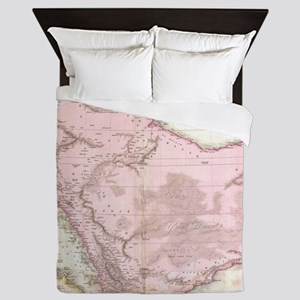 Vintage Map of Saudi Arabia (1818) Queen Duvet