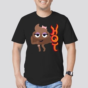 Hot Shit Men's Fitted T-Shirt (dark)