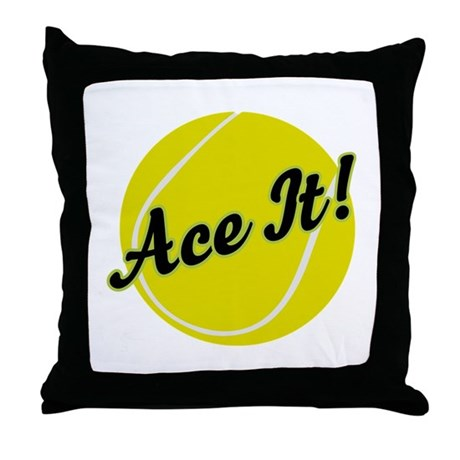 Ace It Tennis Player Gift Throw Pillow