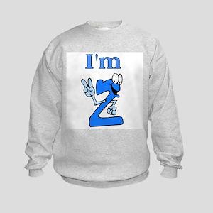 I'm 2 Fingers Old Kids Sweatshirt