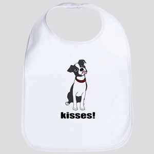 Boston Terrier Puppy Kisses Bib