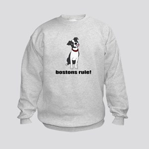 Boston Terriers Rule! Kids Sweatshirt