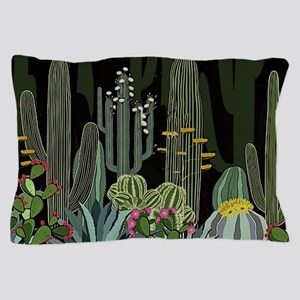 Cactus Garden at Night Pillow Case