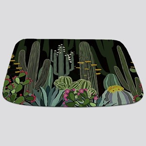Cactus Garden at Night Bathmat