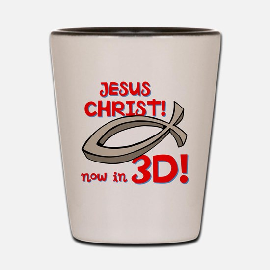 3D Jesus Shot Glass