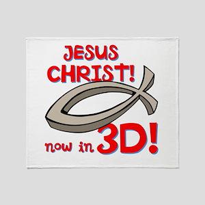 3D Jesus Throw Blanket