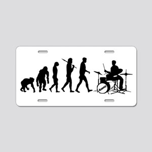 Drummers Drum Set Aluminum License Plate