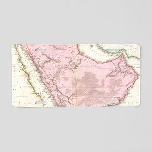 Vintage Map of Saudi Arabia Aluminum License Plate