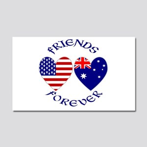 Australia USA Friends Car Magnet 20 x 12