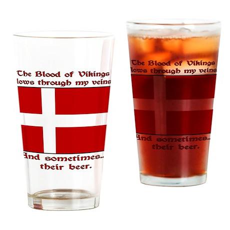 Danish Viking & Beer Drinking Glass