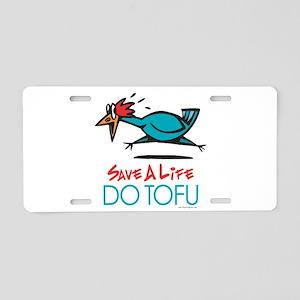 Veggie Tofu Aluminum License Plate