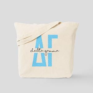 Delta Gamma Polka Dots Tote Bag