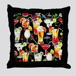 Cocktail Hour in the Tropics Throw Pillow