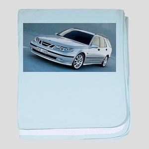 Saab 9.5 baby blanket