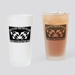 Tractors Drinking Glass