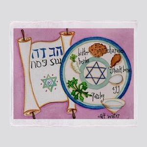 Passover Plate Throw Blanket