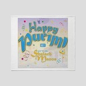 Happy Purim Throw Blanket