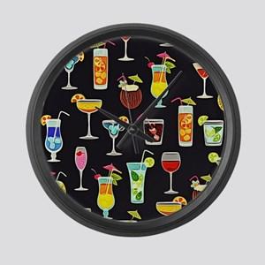 It's 5 O'Clock Somewhere Cocktail Large Wall Clock