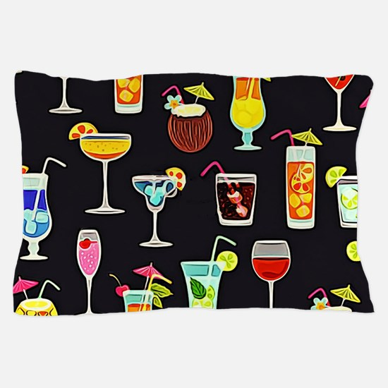 It's 5 O'Clock Somewhere Cocktails Pillow Case