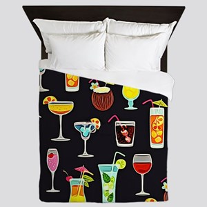 It's 5 O'Clock Somewhere Cocktails Queen Duvet