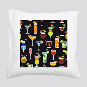 It's 5 O'Clock Somewhere Cock Square Canvas Pillow