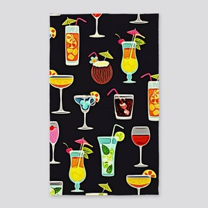 It's 5 O'Clock Somewhere Cocktails Area Rug