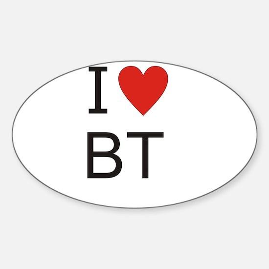 Cute Bt Sticker (Oval)