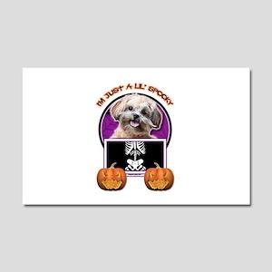Just a Lil Spooky ShihPoo Car Magnet 20 x 12