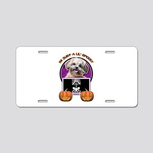 Just a Lil Spooky ShihPoo Aluminum License Plate