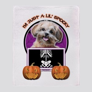 Just a Lil Spooky ShihPoo Throw Blanket