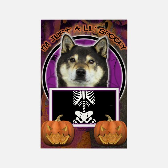Just a Lil Spooky Shiba Inu Rectangle Magnet