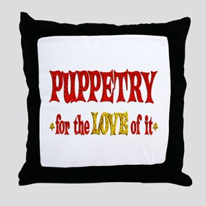 Puppetry Love Throw Pillow