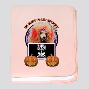 Just a Lil Spooky Poodle baby blanket