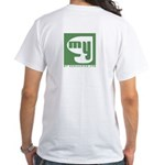 White T-Shirt Back Print Only