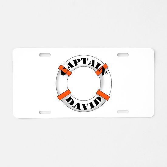 Cute Dave Aluminum License Plate