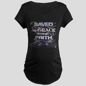 Saved by Grace Maternity Dark T-Shirt