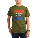 2012 Election RWB Organic Men's T-Shirt (dark)